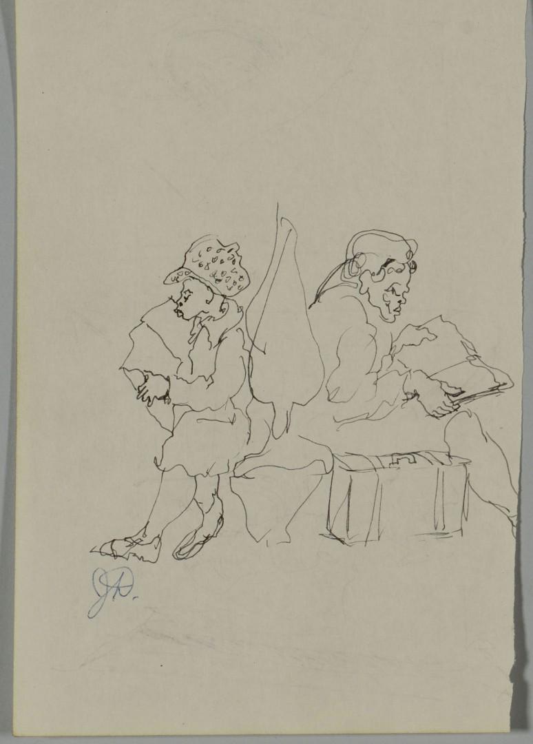 4 Joseph Delaney Ink Drawings, New York