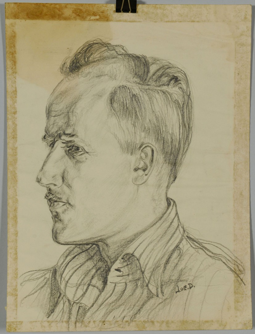 Lot 213: 3 Joseph Delaney Ink & Pencil Drawings