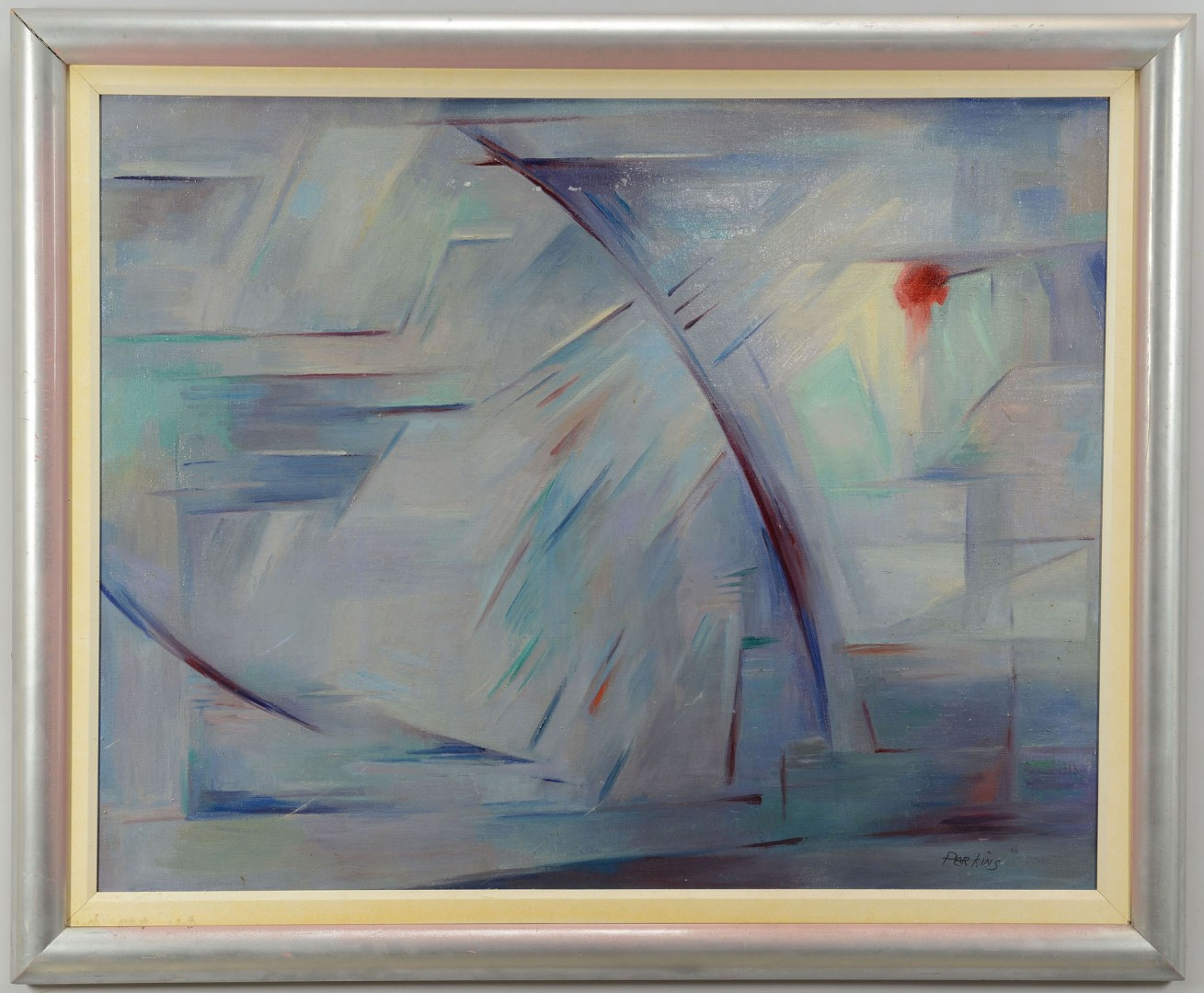 Lot 216: Philip Perkins, abstract oil on canvas