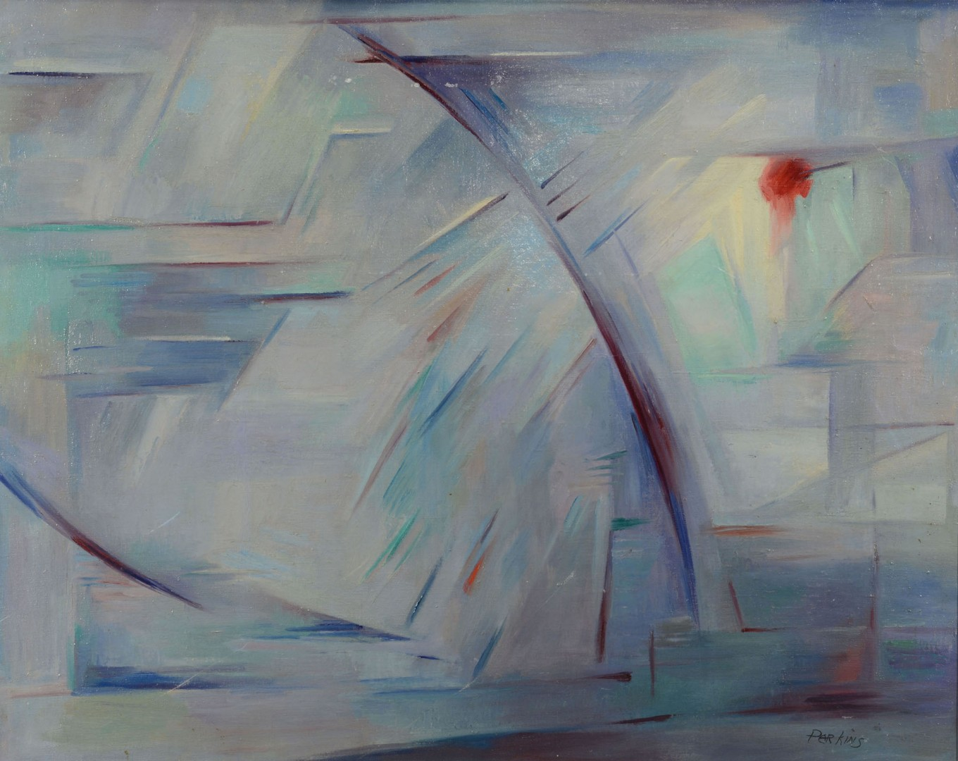 Philip Perkins, abstract oil on canvas