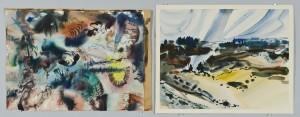 Lot 217: 2 Richard Clarke Abstract Watercolors
