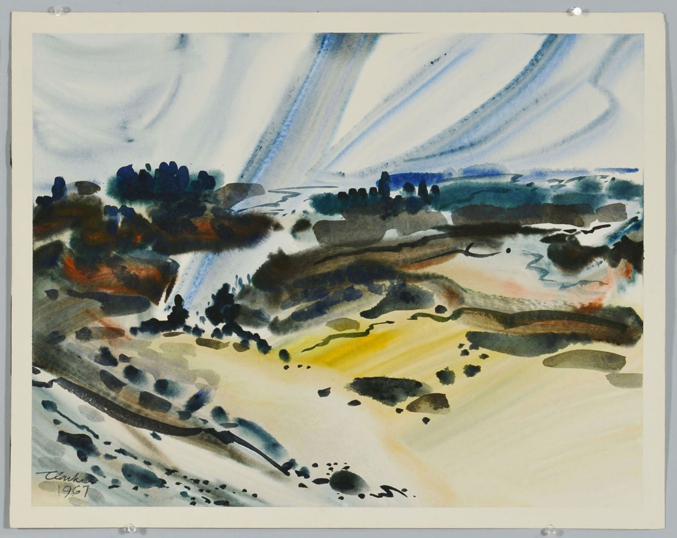 Lot 217: 2 Richard Clarke Abstract Watercolors