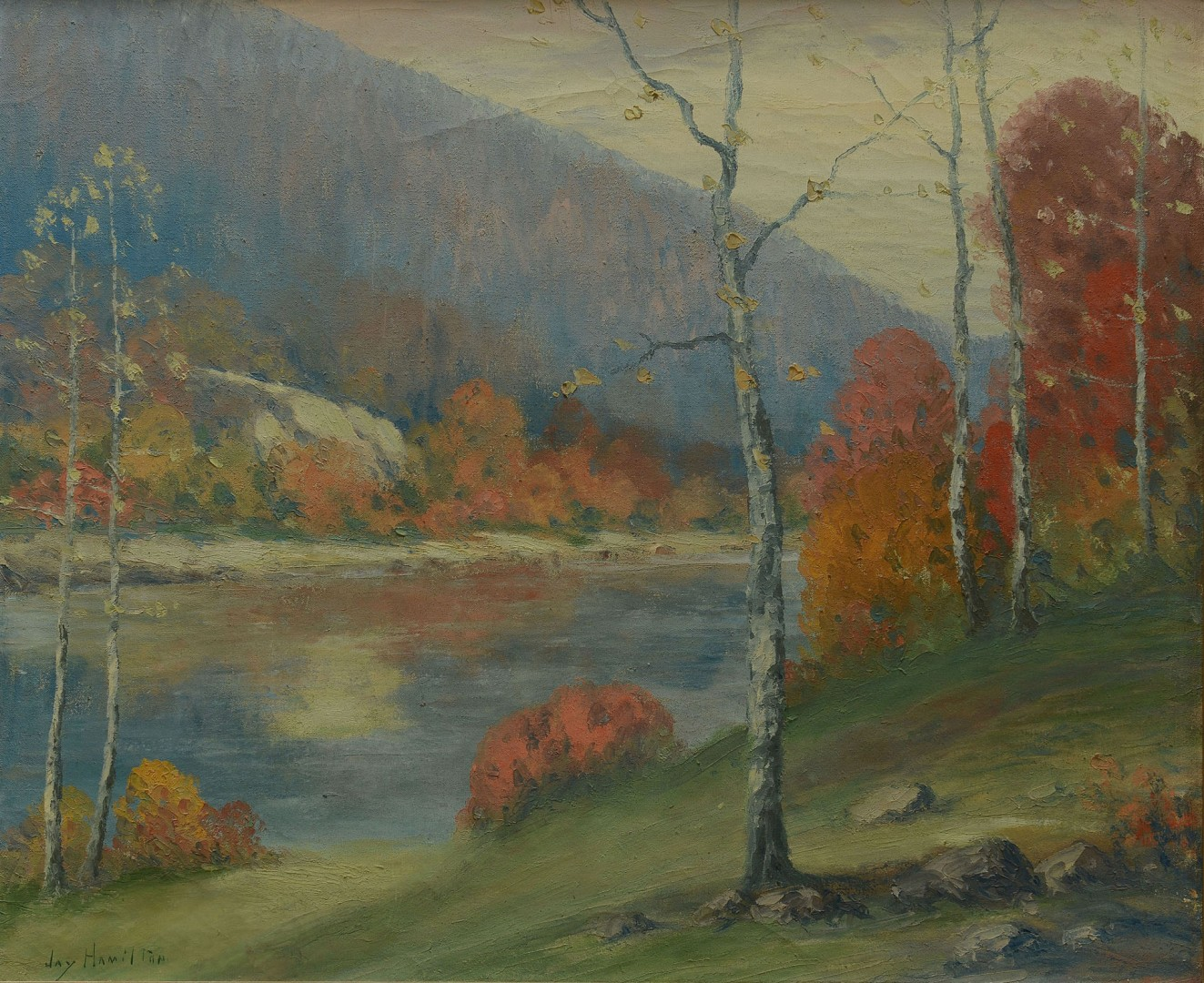 Autumn Landscape o/c, possibly E. Tenn.