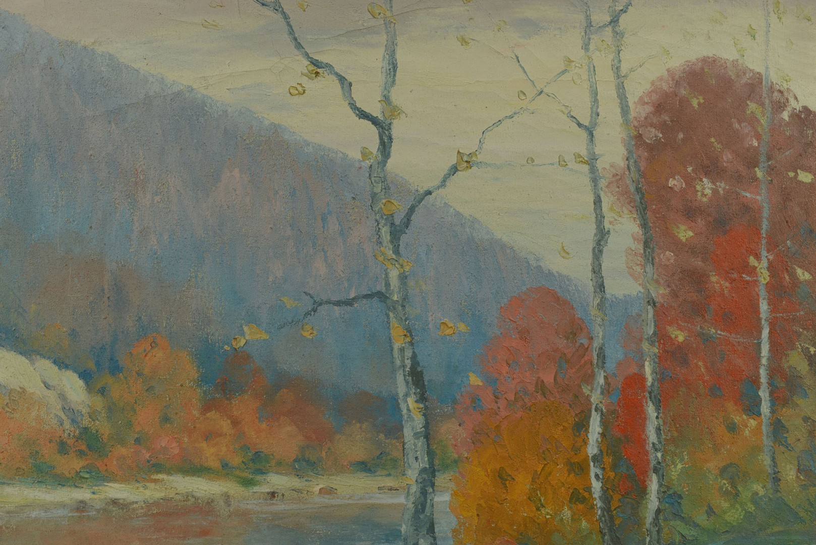 Lot 219: Autumn Landscape o/c, possibly E. Tenn.