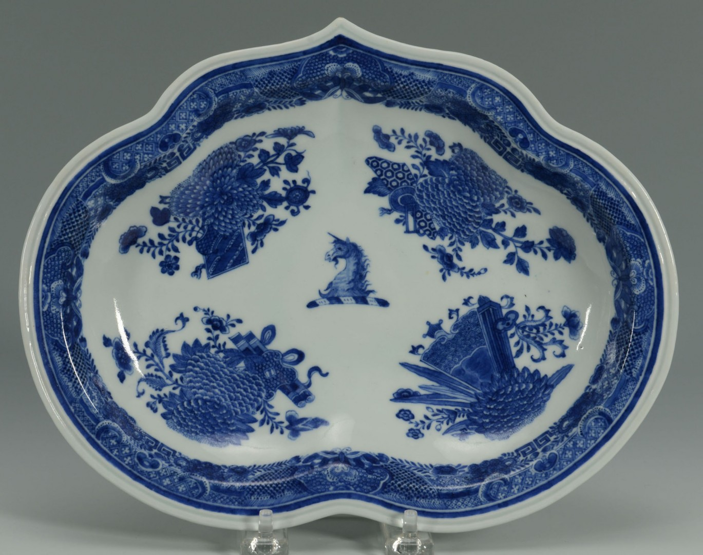 3 Chinese Export Porcelain Blue Fitzhugh Items