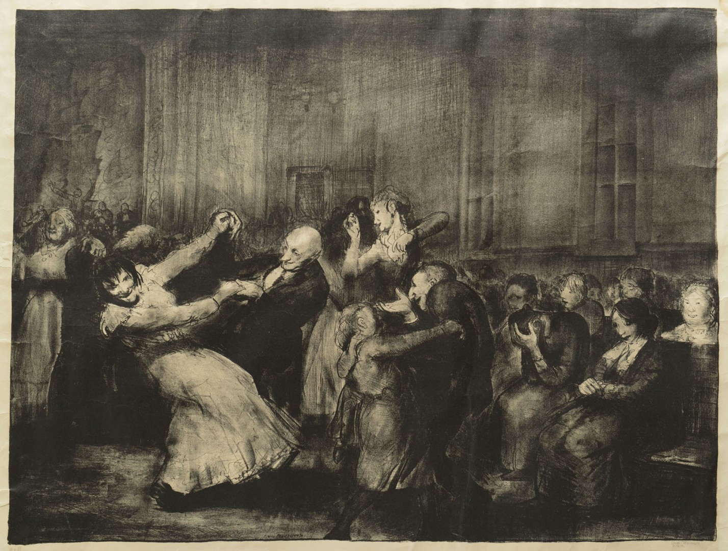 "Lot 220: George Bellows ""Dance in a Madhouse"" signed Litho"