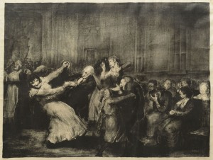 """Lot 220: George Bellows """"Dance in a Madhouse"""" signed Litho"""