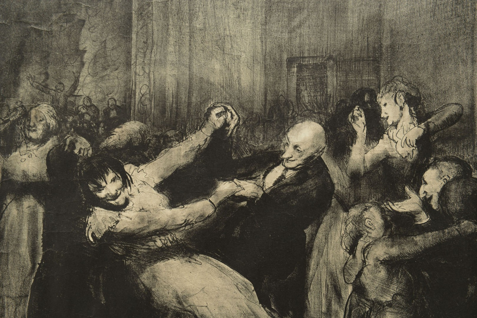 "George Bellows ""Dance in a Madhouse"" signed Litho"