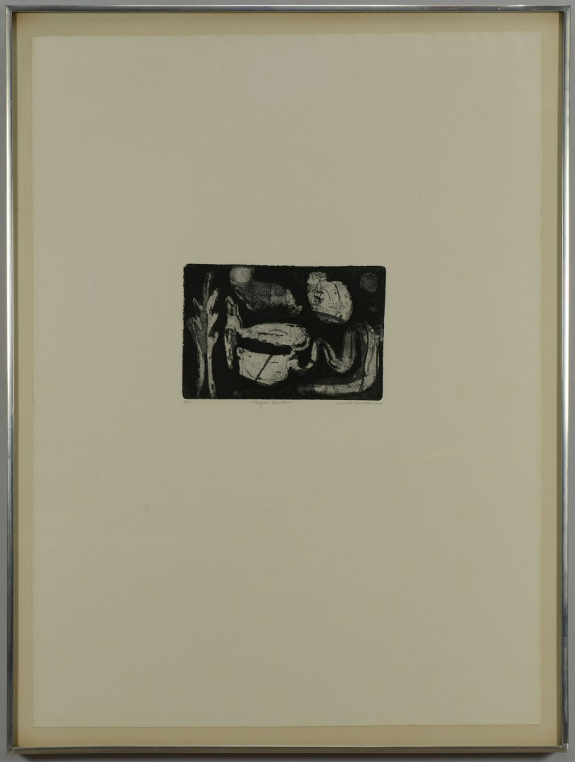 "Louise Nevelson Etching and Aquatint, ""Magic Garden"""