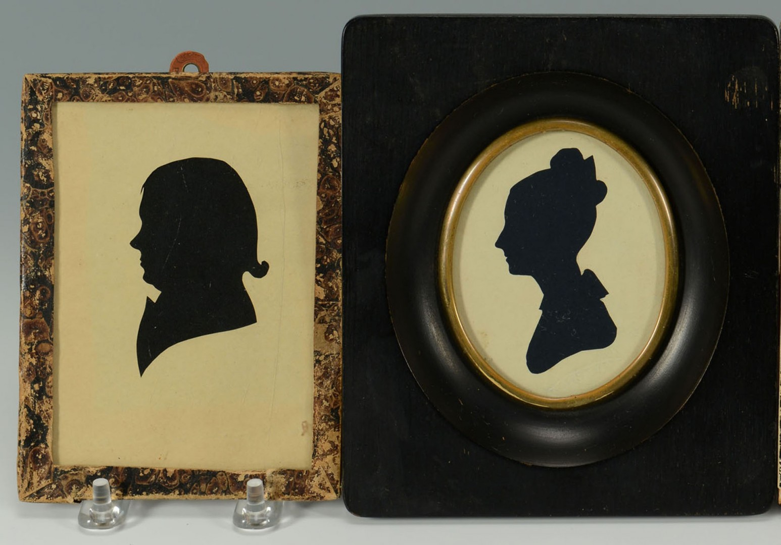 Four 19th c. Silhouettes, 3 Gents and 1 Woman