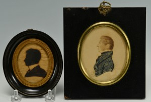 Lot 224: 2 Miniature Portraits of gentlemen