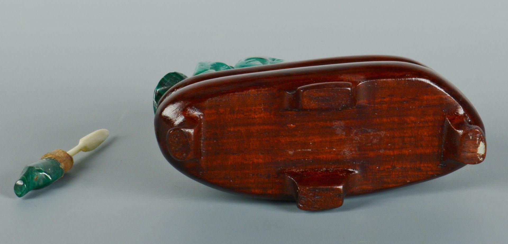 Chinese Green Malachite Figural Snuff Bottle