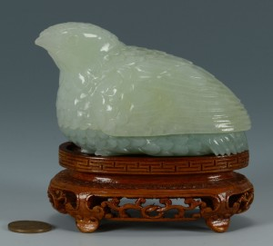 Lot 229: Carved Chinese Quail Box