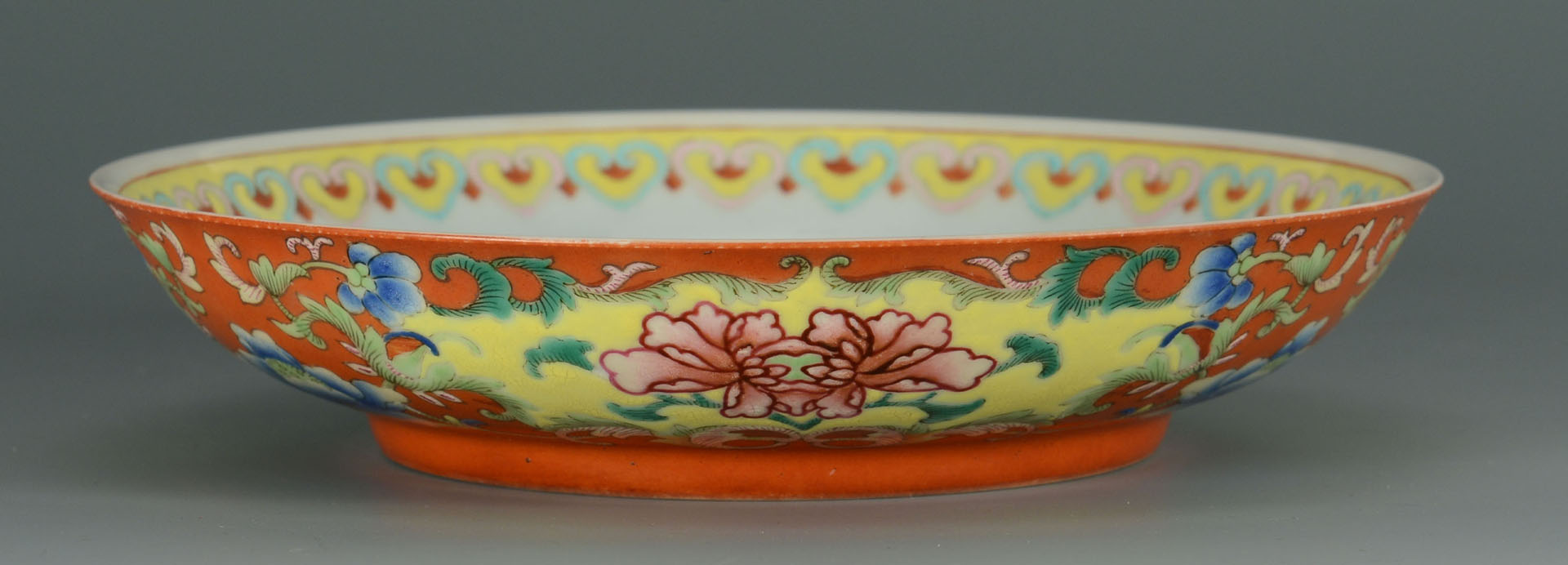 Lot 231: Chinese Porcelain Famille Rose Saucer Dish