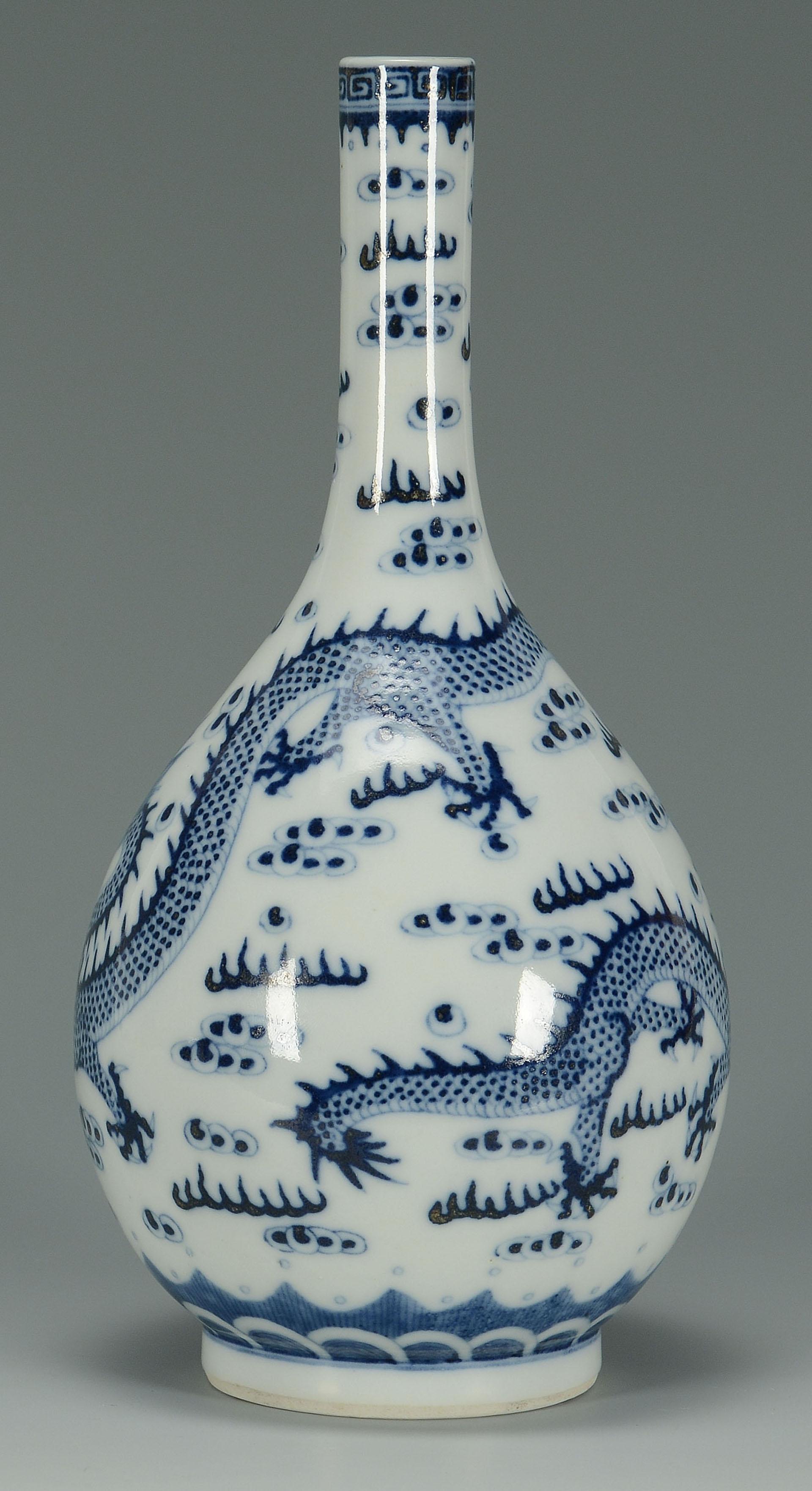 Chinese Porcelain Blue Amp White Bottle Vase
