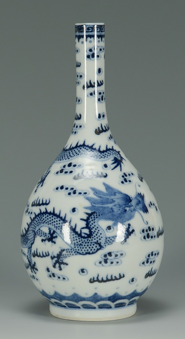 Chinese Porcelain Blue & White Bottle Vase