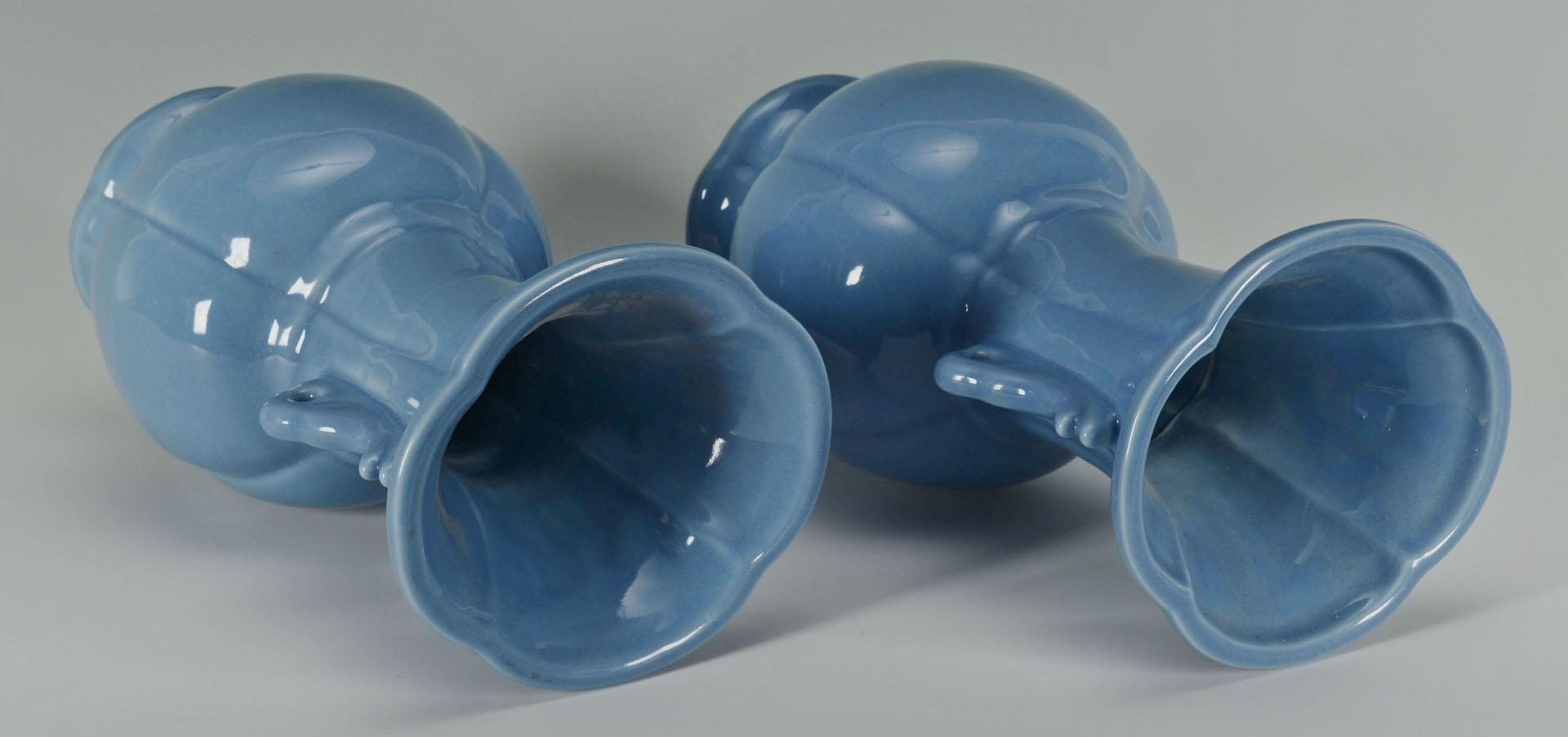 Pr. Chinese Claire de Lune Porcelain Vases