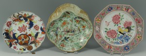 Lot 23: Grouping of 3 Chinese Porcelain Plates