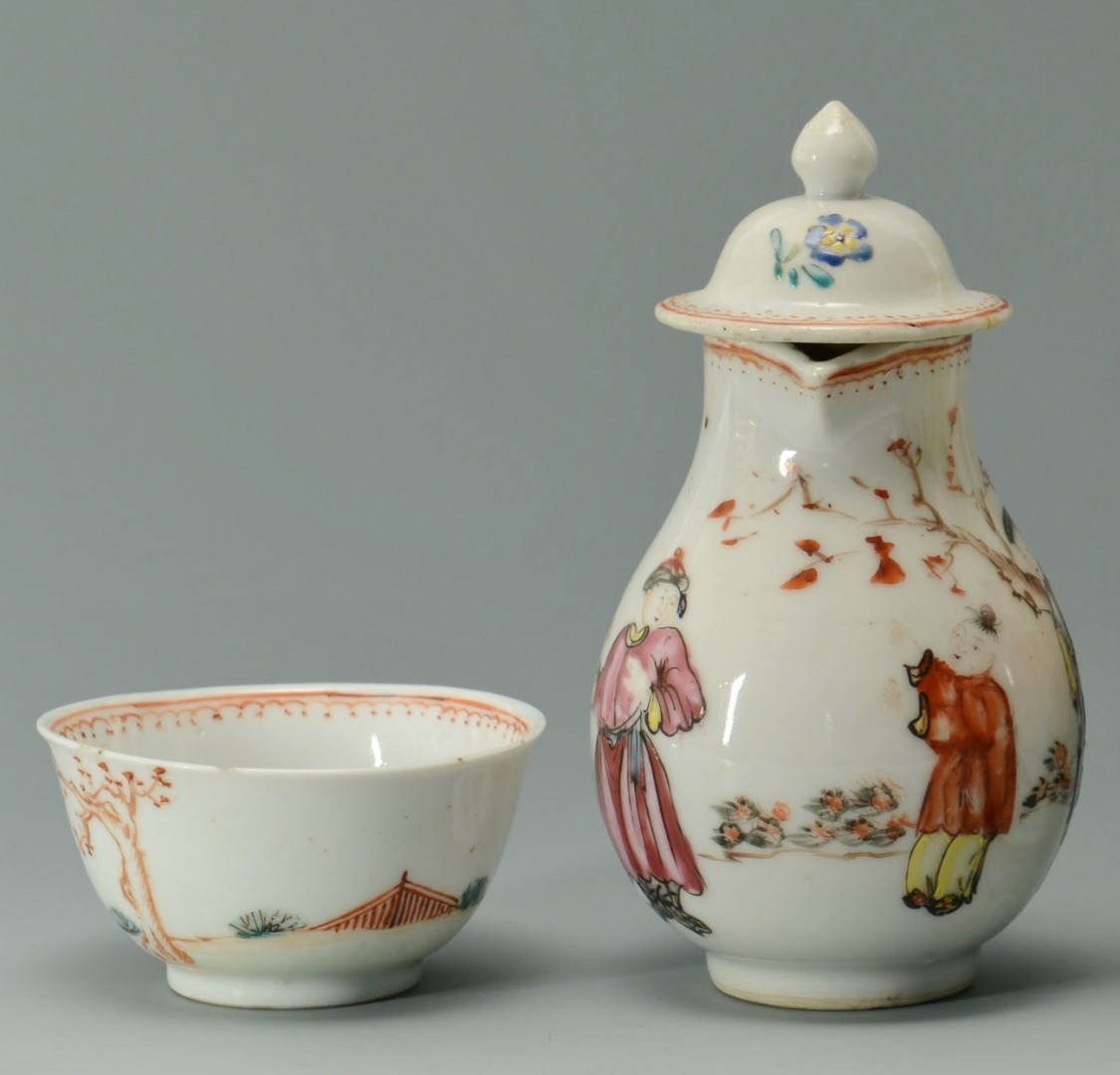 Lot 24: 4 Chinese Famille Rose Export Porcelain Items