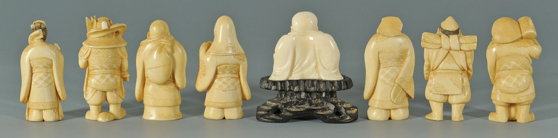 Lot 252: 8 Chinese Carved Ivory Figures