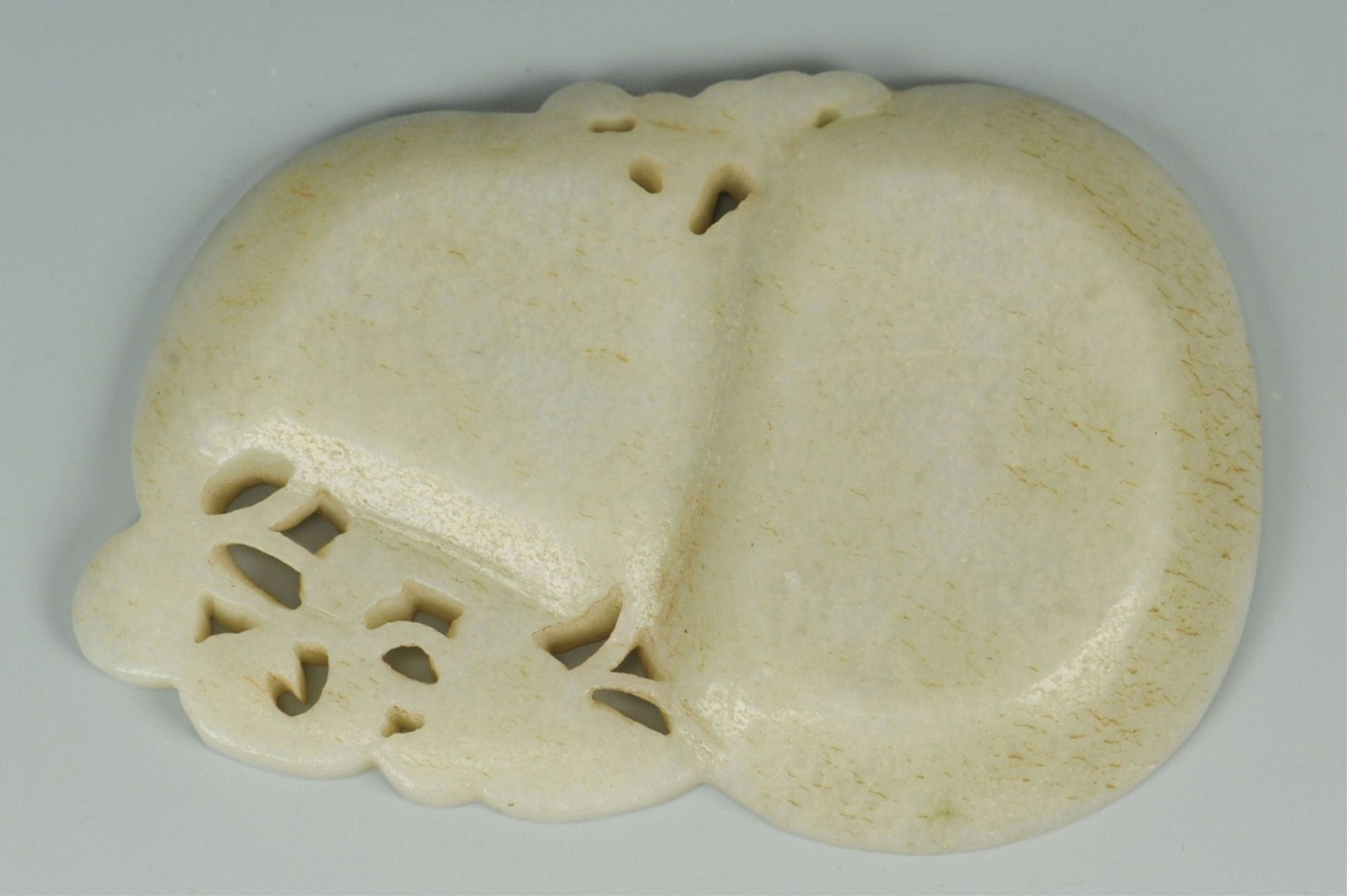 2 Chinese Carved Jade Items – Figural & Inkstone