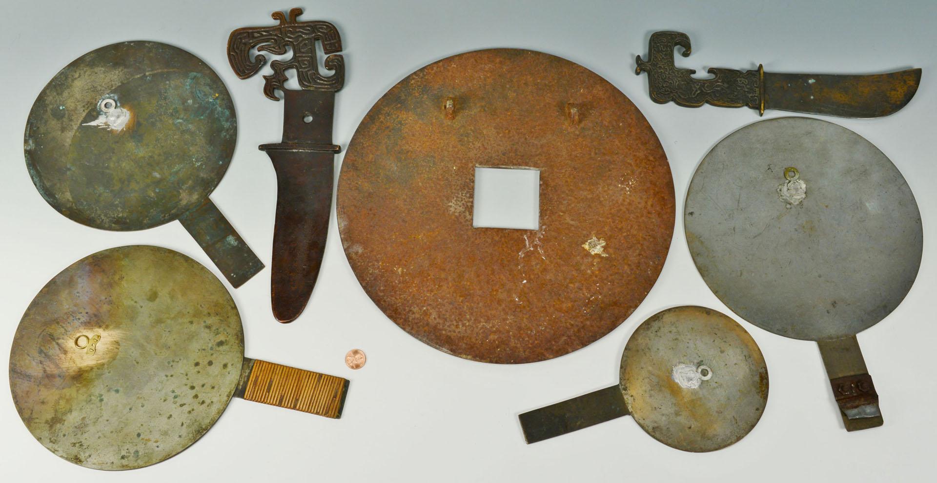 Chinese Metal Items, 7pcs. total