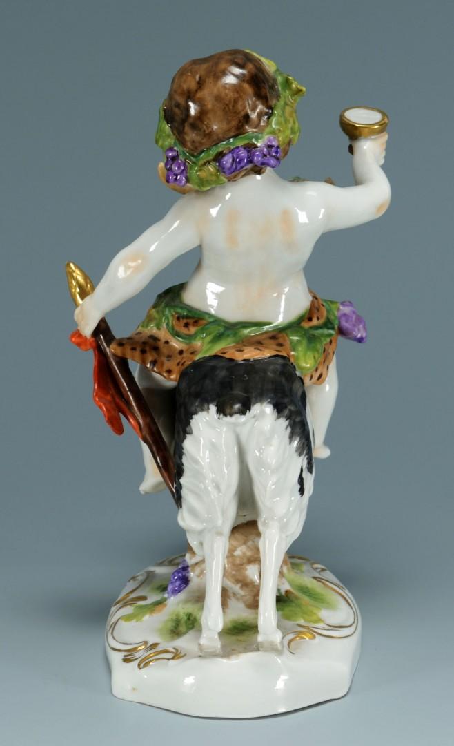 Kister Porcelain Bacchus and Goat Figure