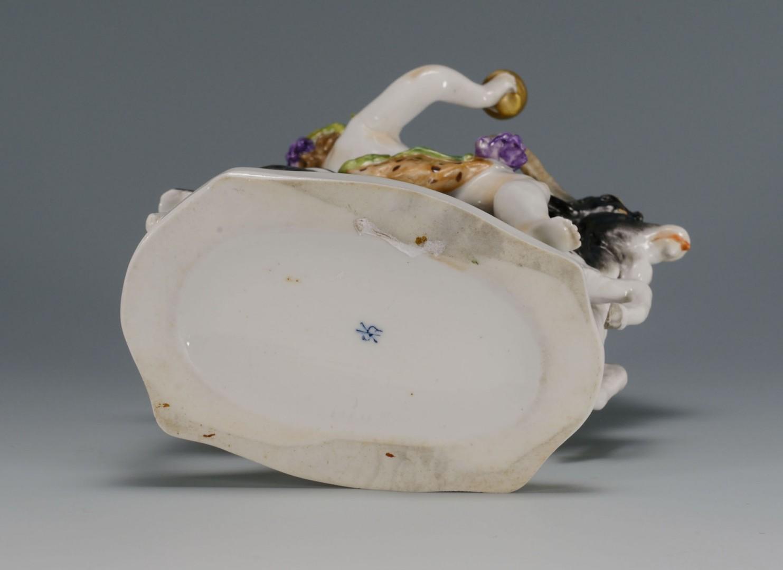Lot 260: Kister Porcelain Bacchus and Goat Figure