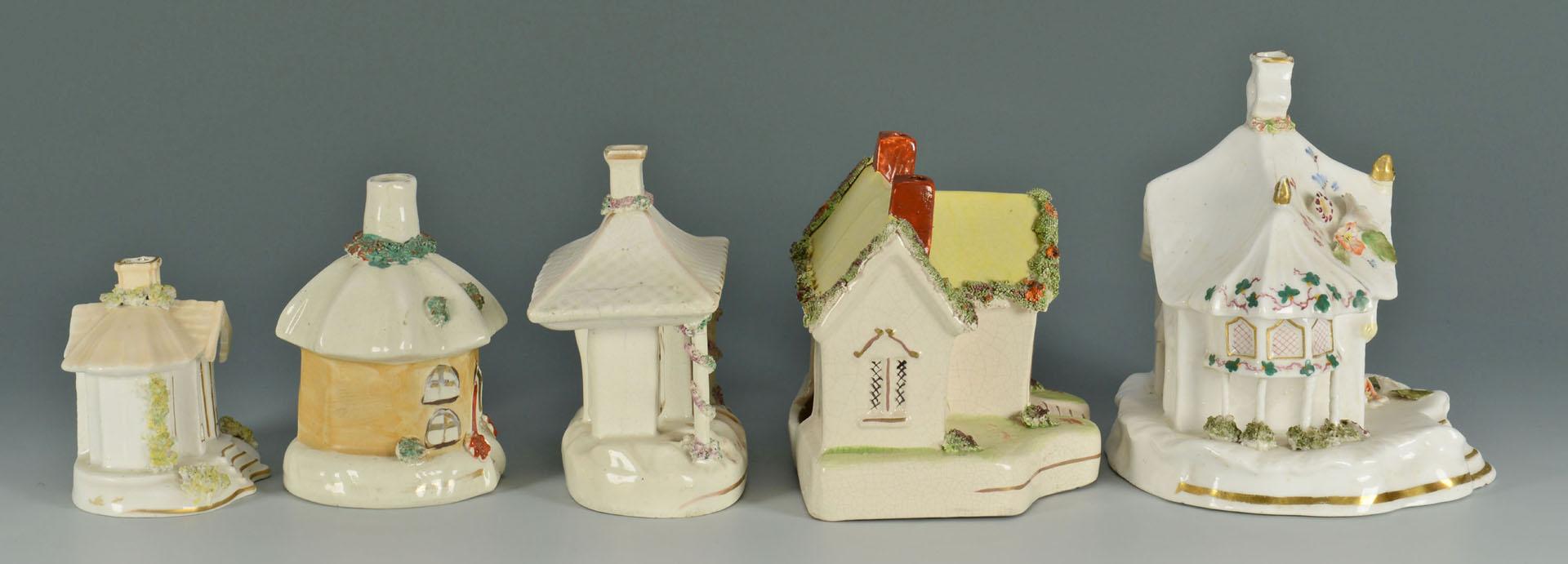 Lot 266: 5 Staffordshire Cottage Pastille Burners