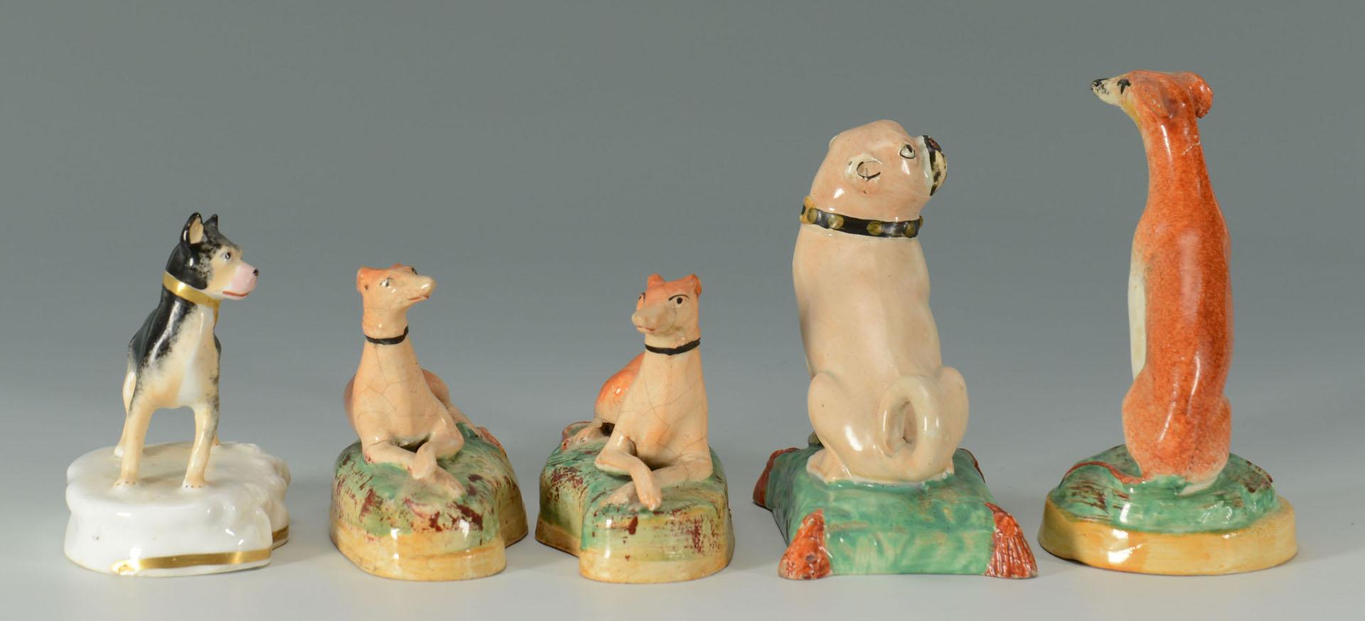 Lot 268: 5 English Dog figurines