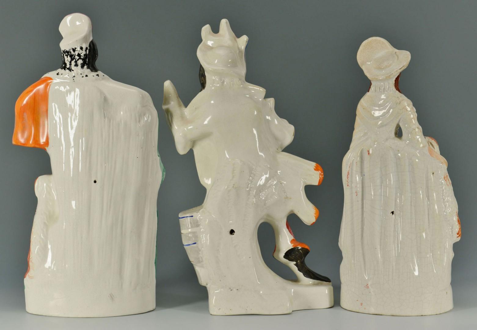 Lot 272: 3 Large Staffordshire Figures