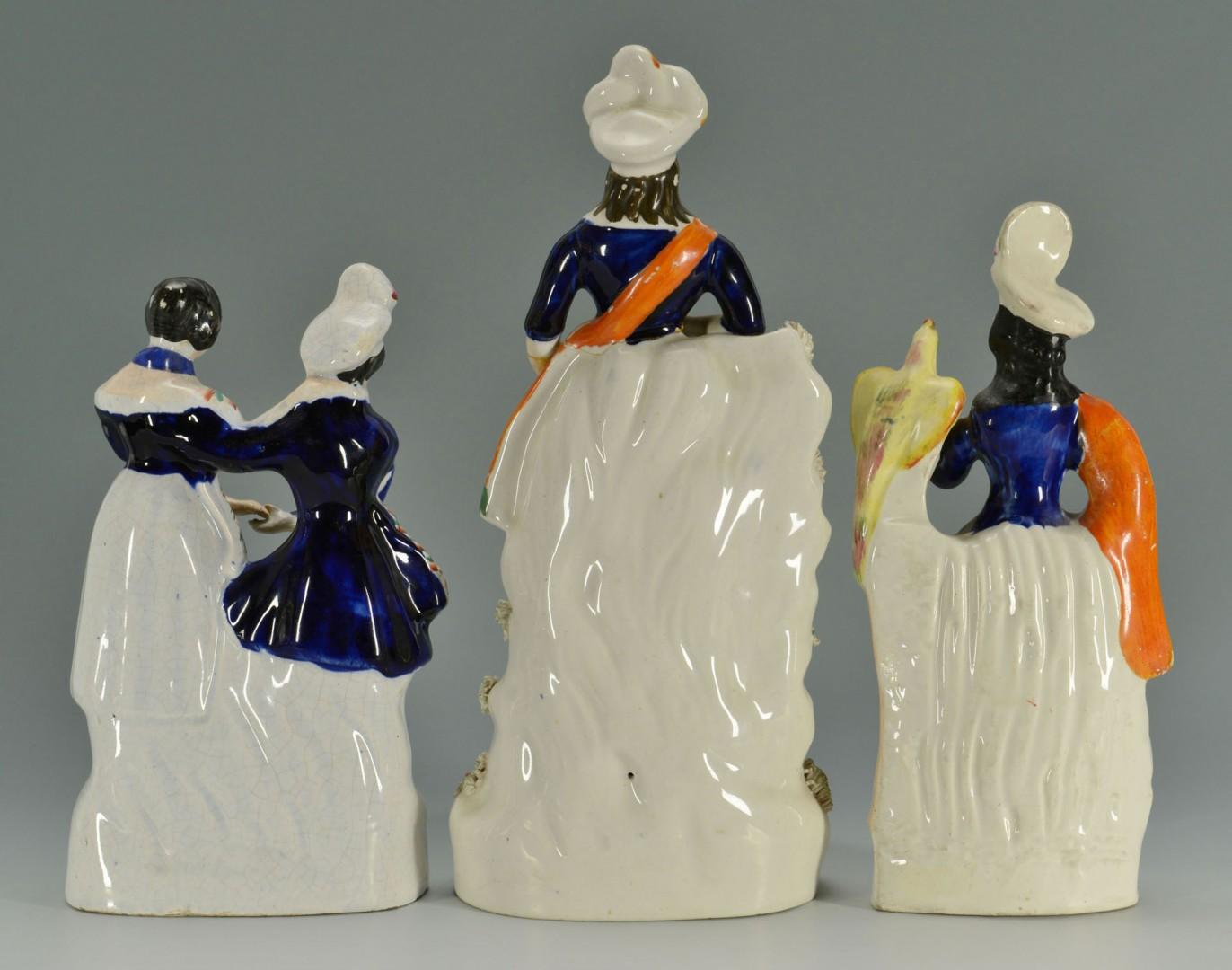 Grouping of 3 Tartan Staffordshire Figures