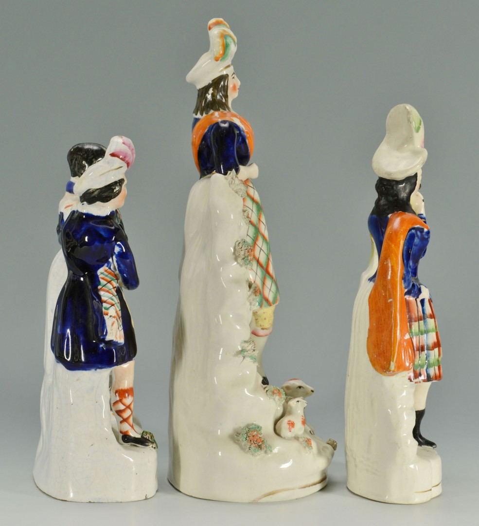 Grouping of 3 Tartan Staffordshire Figures