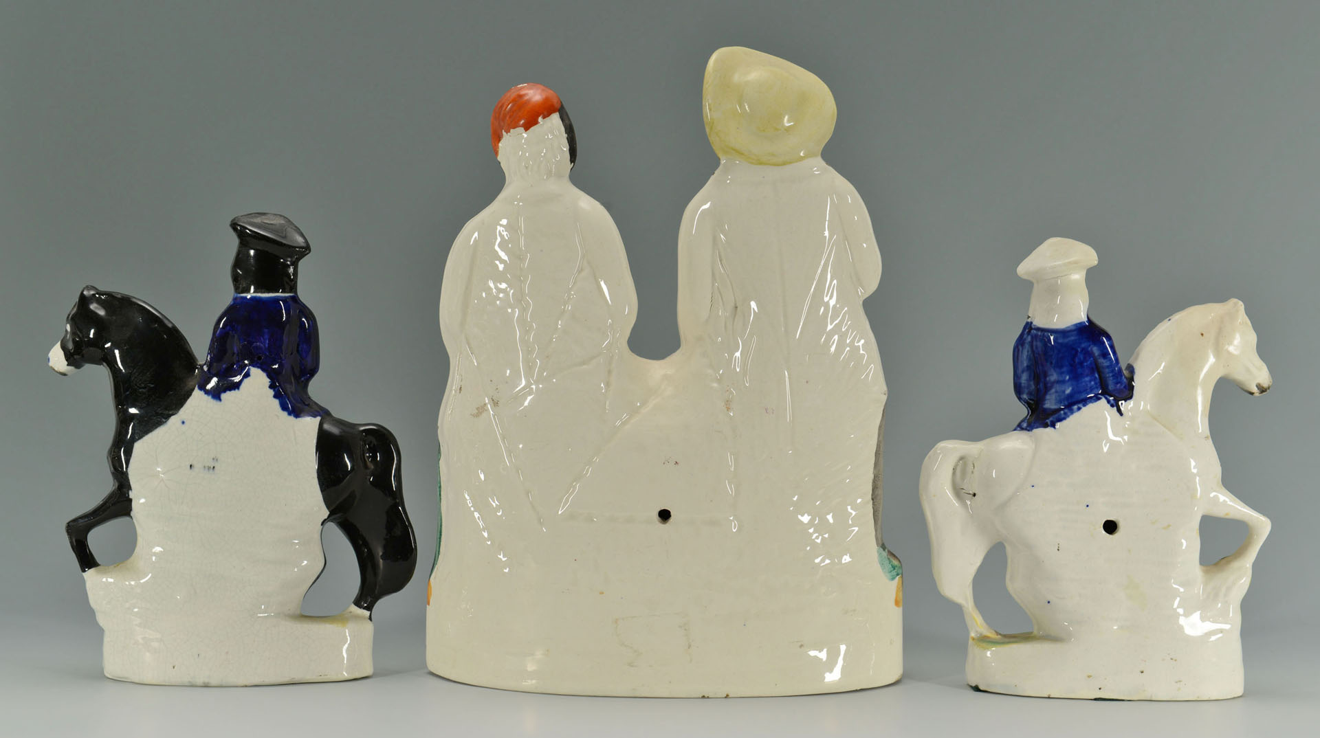 Lot 274: 3 Staffordshire figures; Turpin, King, Tam O'Shant