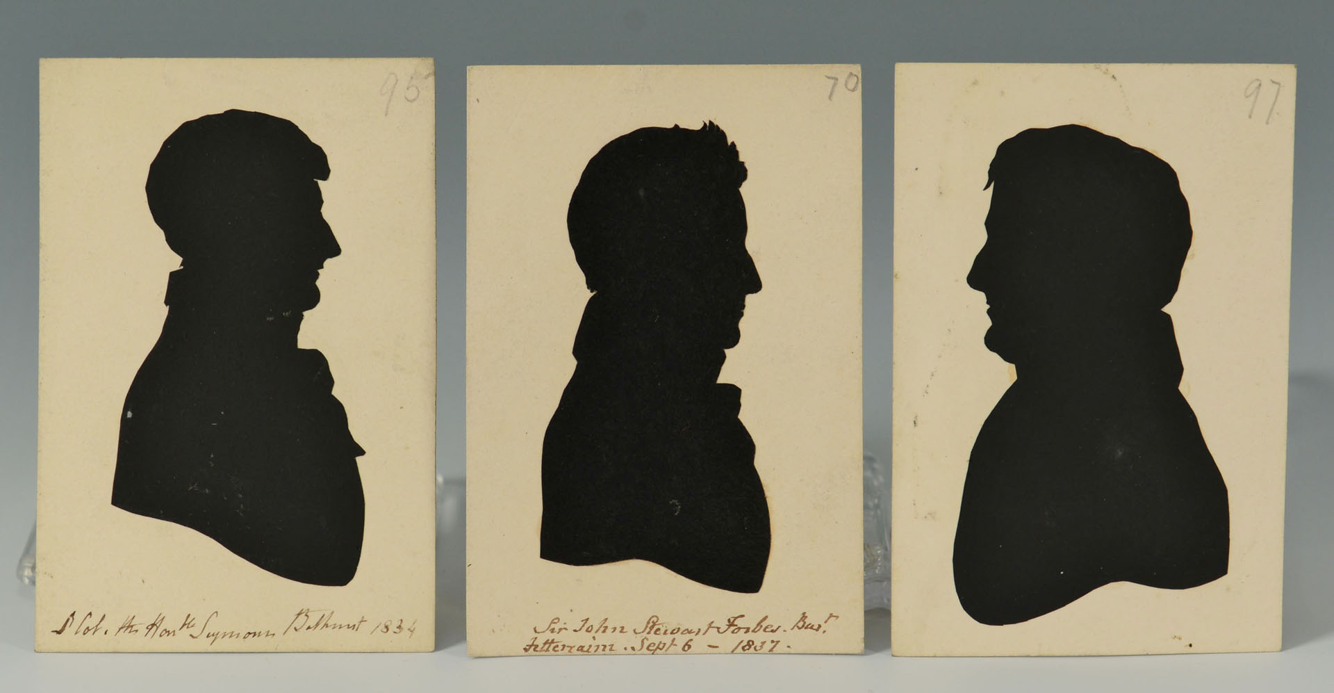 Lot 27: Grouping of 3 small chest, boxes, and silhouettes