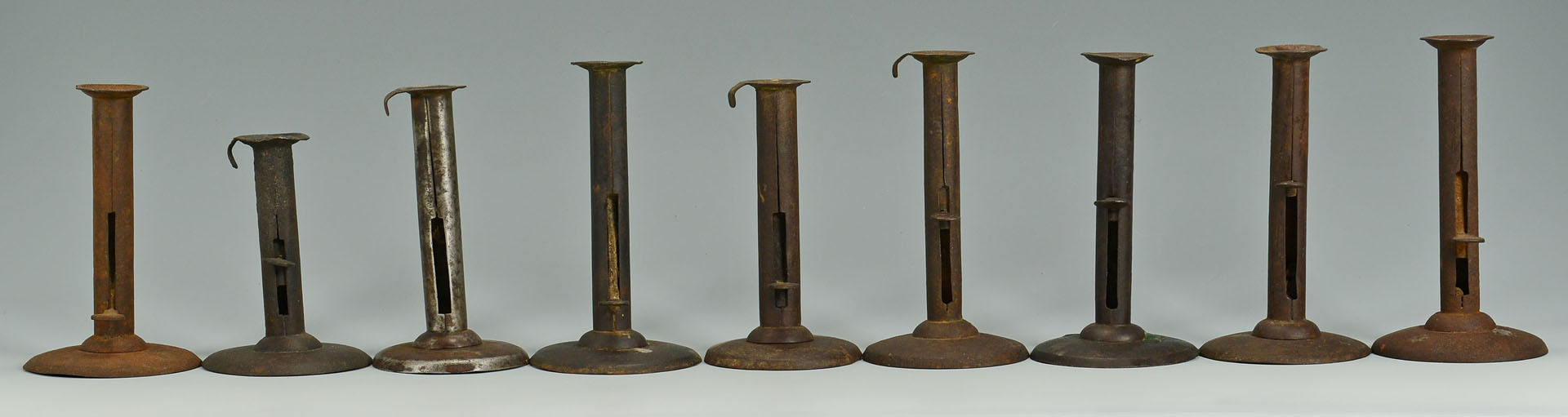 Grouping of Early Tin and Iron Lighting, 15 items