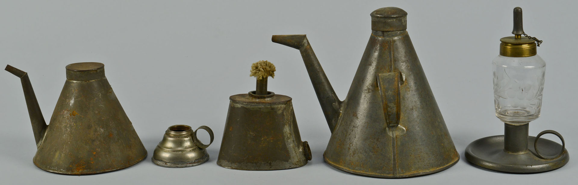Large grouping of tin lighting related items