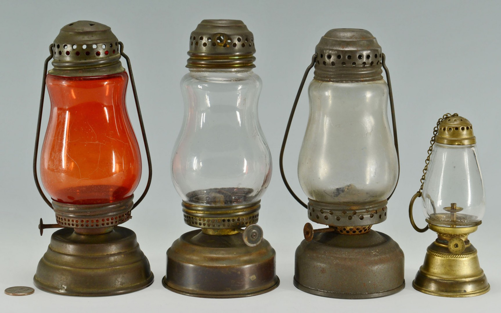 4 Skater's Lanterns Including Baby Lantern