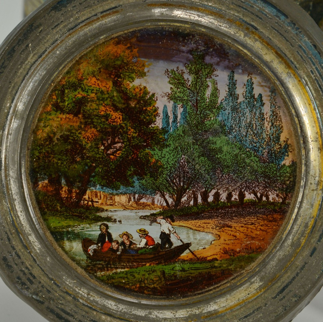 Lot 28: 5 Small Painted European Objects
