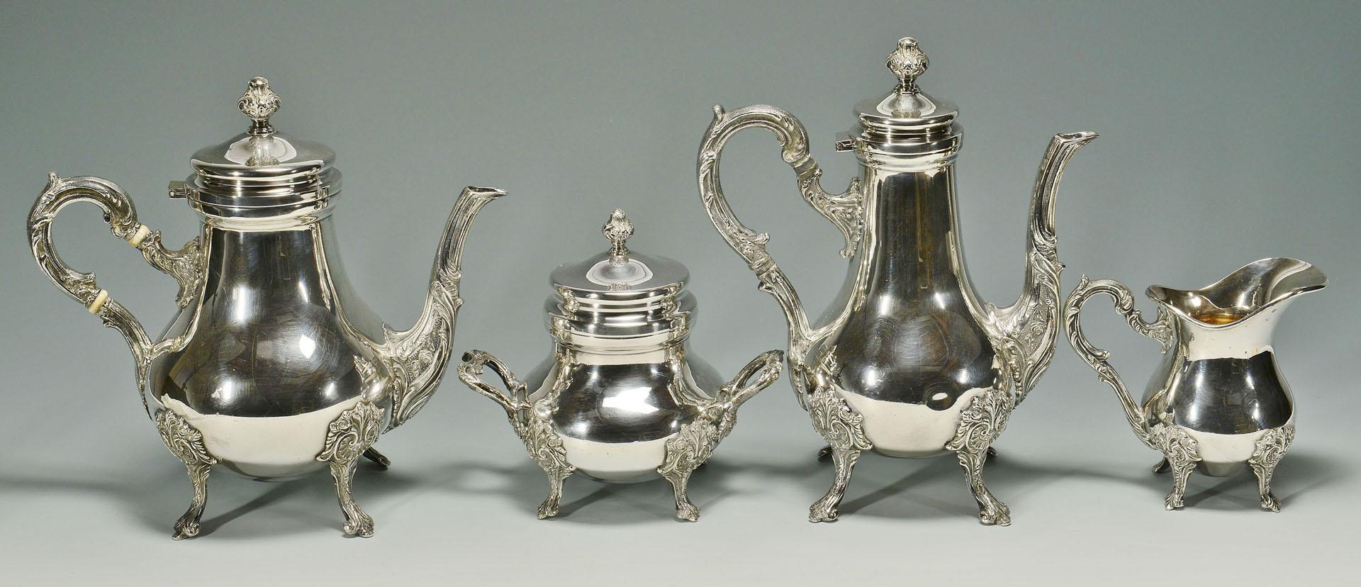 Peruvian 4 pc Silver Tea And Coffee Service