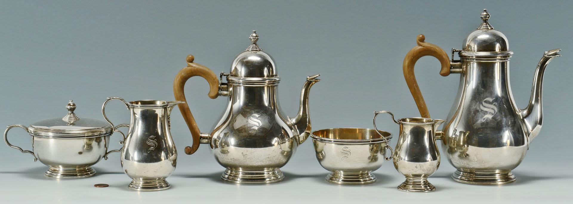 Gorham Sterling Silver Tea Service, 201 pattern