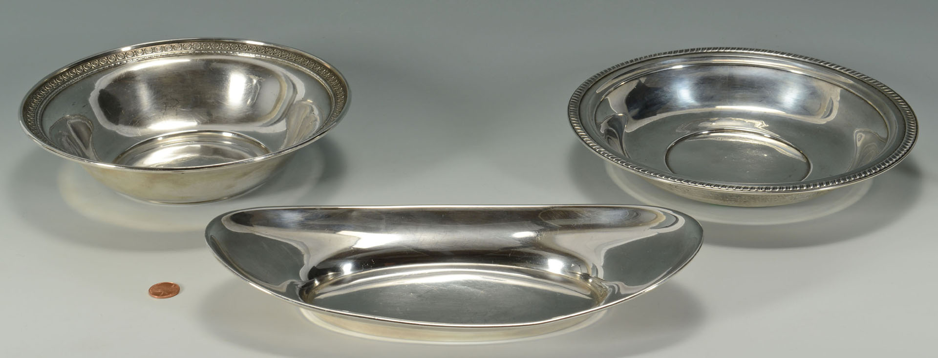 Lot 297: Three Sterling Silver Serving Bowls