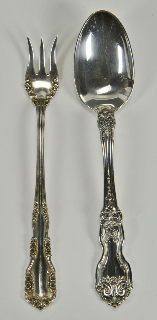 24 pc. Sterling flatware, La Reine and Rosalind