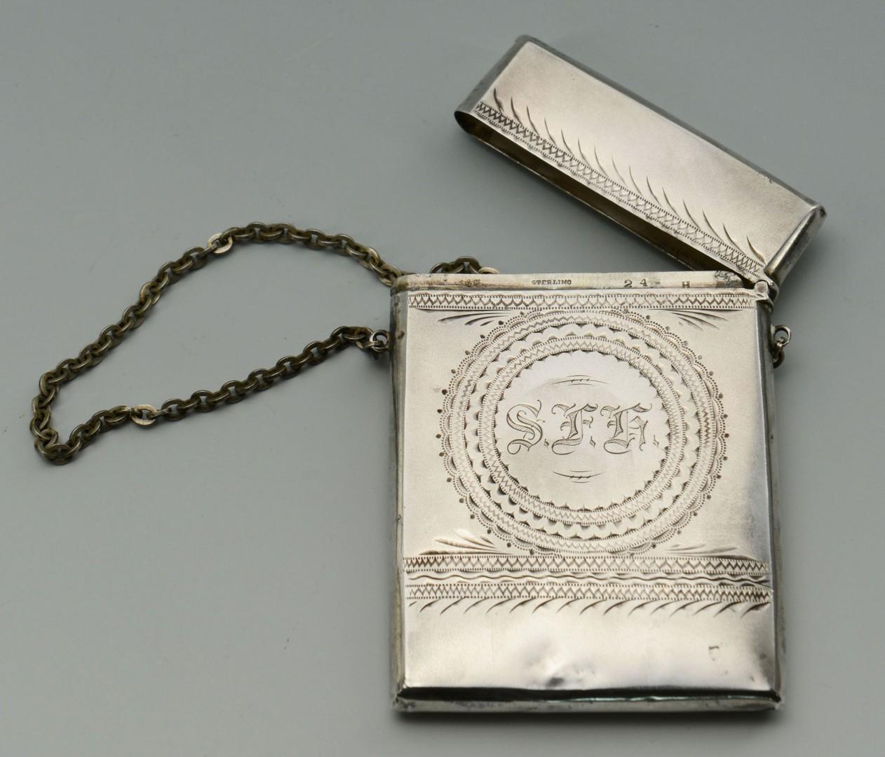 Gorham Sterling Calling Card Case in original box