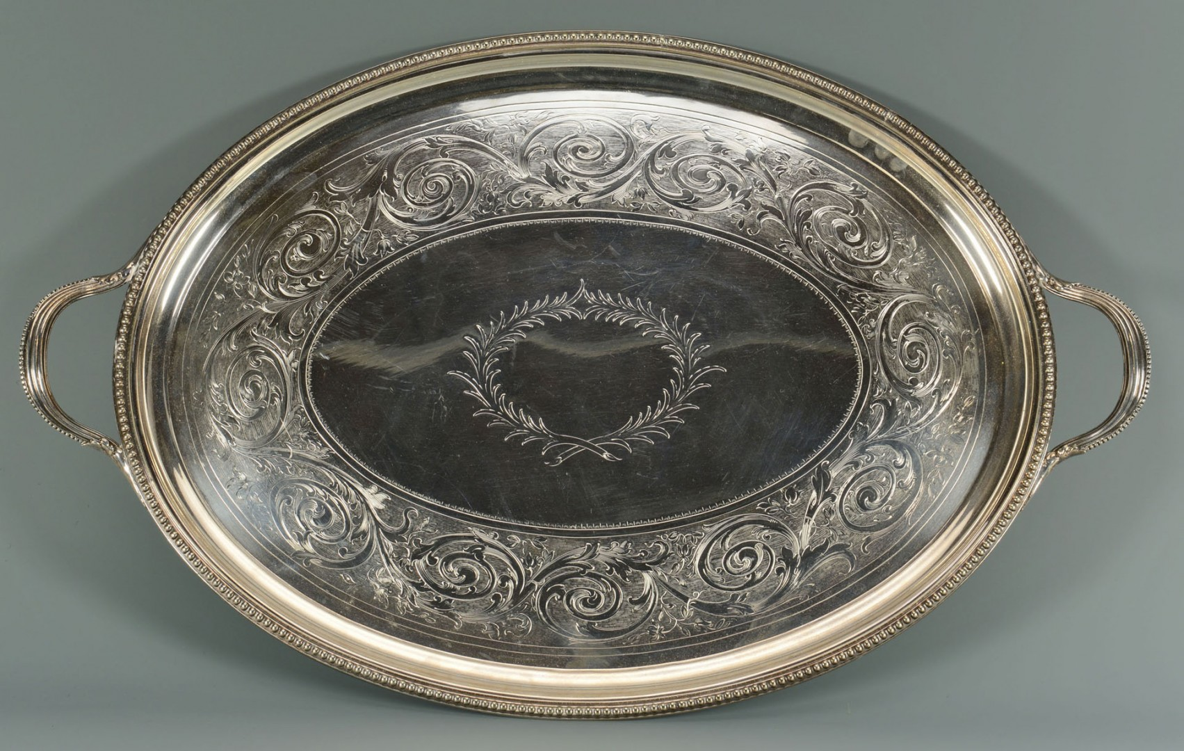 Large Victorian Meat Dome and Tray