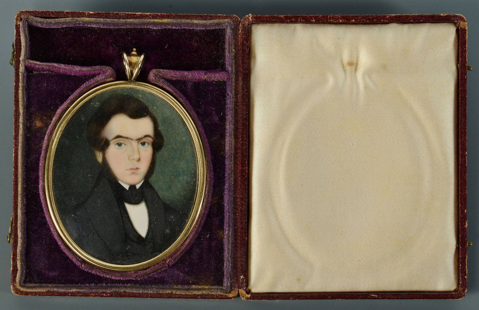 Lot 30: Philadelphia Miniature Portrait On Ivory