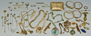 Lot 310: 14K,10K Victorian and Edwardian Jewelry plus