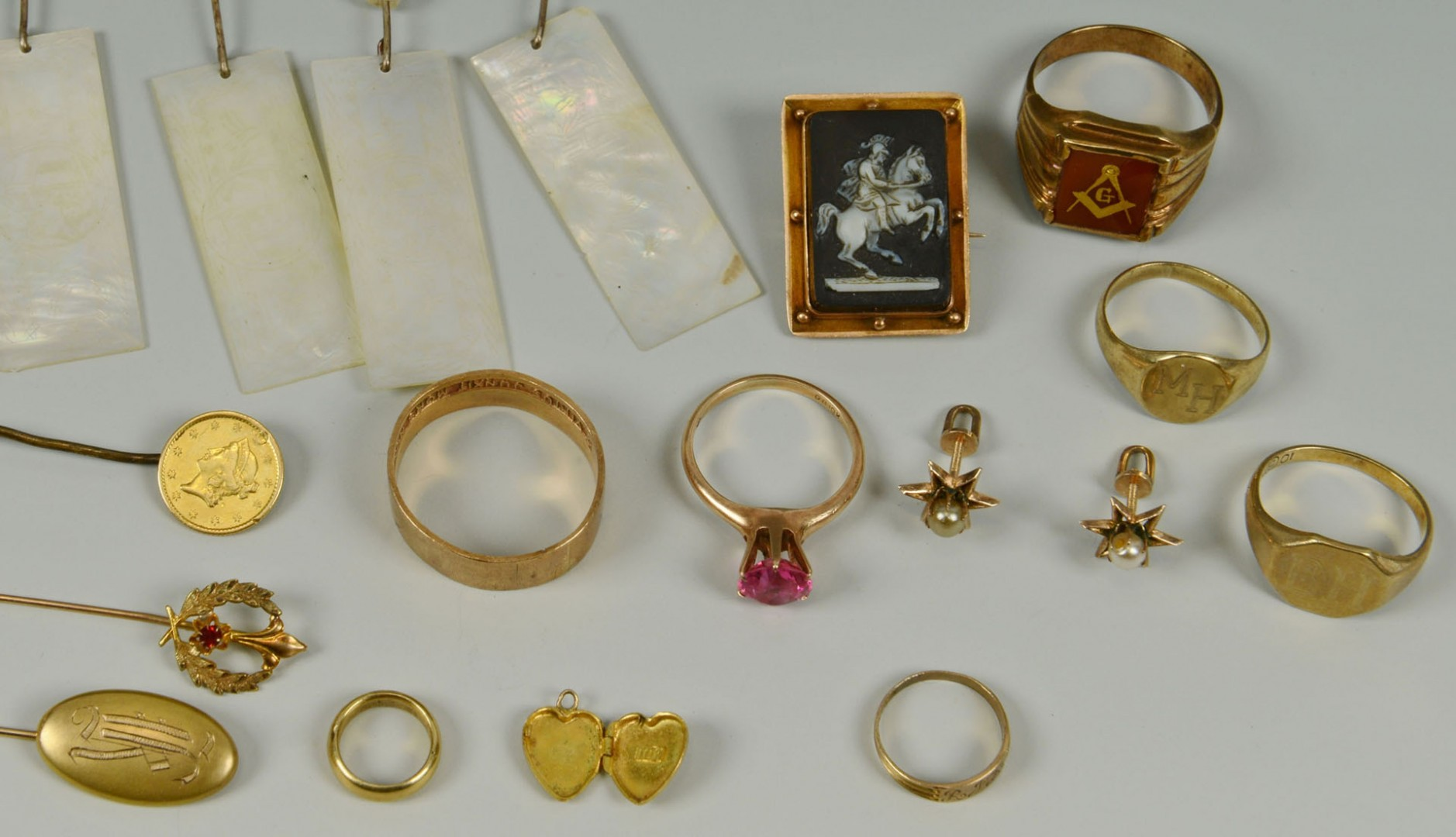 Lot 311: 14k, 10k and Victorian jewelry
