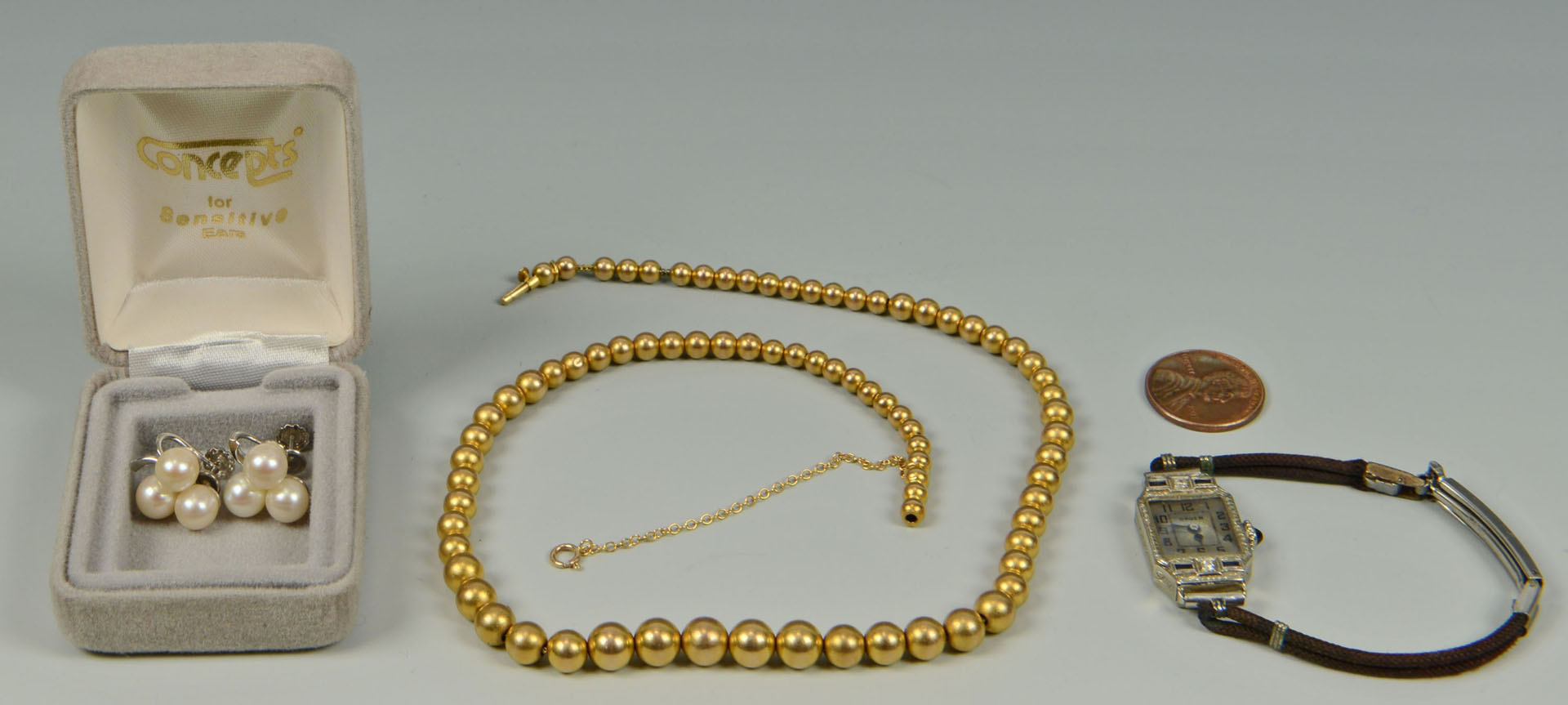 Lot 312: Group of 14k jewelry