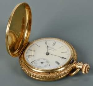 Lot 314: 14k ladies Waltham pocket watch